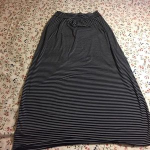 REDUCED Gap striped long maxi skirt size S